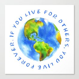 Live For Solidarity Canvas Print