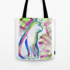 Cat of Color Tote Bag
