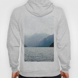 Misty Lake in the Alps Hoody