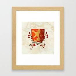King's Champion - Lioness Shield Framed Art Print
