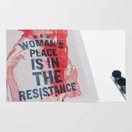 A Woman's Place is in the Resistance Rug