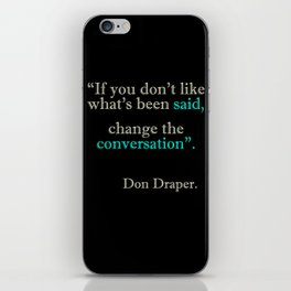 Mad Men Quotes iPhone Skin