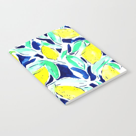 Bold Lemons Blue Notebook