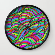 waves of colors  Wall Clock