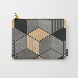 Concrete and Wood Cubes 2 Carry-All Pouch