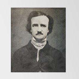 Edgar Allan Poe Engraving Throw Blanket