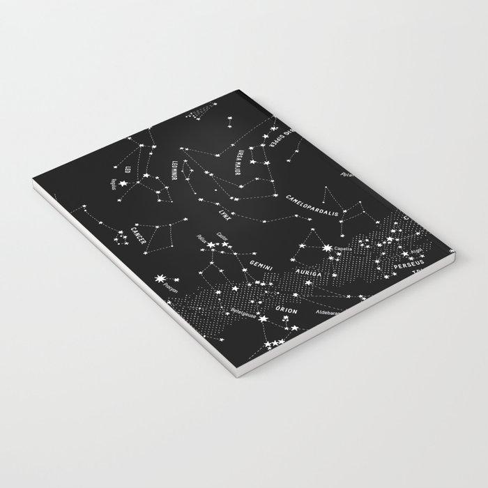 Constellation Map - Black Notebook