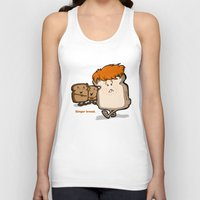 bread Tank Tops featuring Ginger Bread by BinaryGod.com