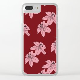 Lily The Tiger - Red Clear iPhone Case