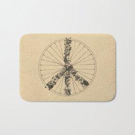 Peace & Bike (Lines) Bath Mat