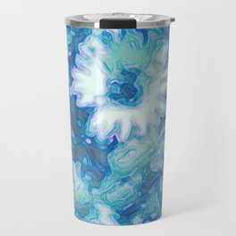Blue Daisy Print Travel Mug