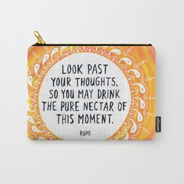 Orange Mandala Rumi Quote Carry-All Pouch