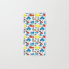 Cute Colorful Planes, Trains and Cars Pattern Hand & Bath Towel