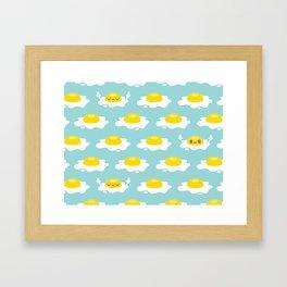Sunny Side Up! / Print / Blue Framed Art Print