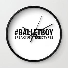Ballet Boy - Breaking Stereotypes Wall Clock