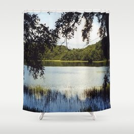 Gormire Lake SLR Photo Shower Curtain