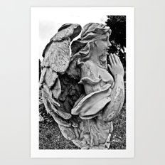 Angel profile Art Print