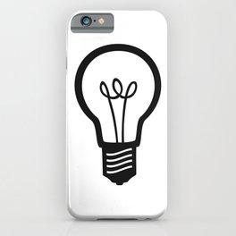 Simple Light Bulb iPhone Case
