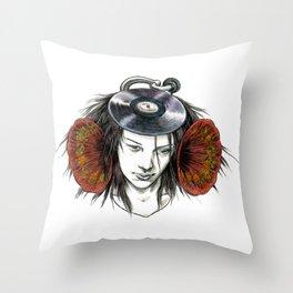 Record Head Throw Pillow