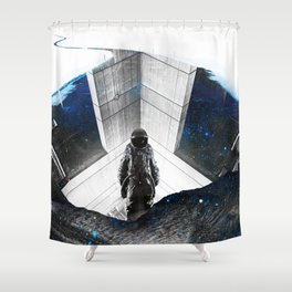 Astronaut Isolation Shower Curtain