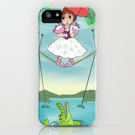 Baby Haunted Mansion Tightrope Ballerina iPhone Case