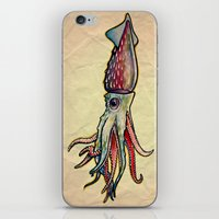 squid iPhone & iPod Skins featuring Squid by Irene Fratto Due