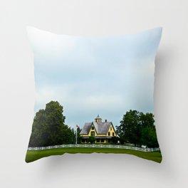 The Yellow House Throw Pillow