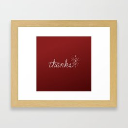 thanks* [red] Framed Art Print
