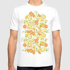 Citrus Squeeze Mens Fitted Tee White MEDIUM