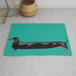 dachshund - wiener dog - i love my wiener Rug