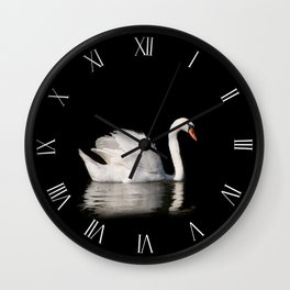 White Mute Swan Cygnus olor Wall Clock