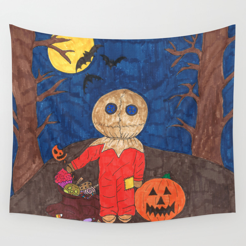 Little Trick R Treat Sam Wall Tapestry by Gigglescrafts TPS6536151
