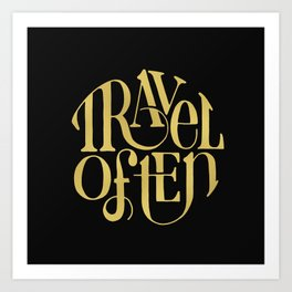 Travel in Gold Art Print