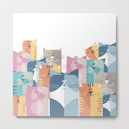 Too Many Cats? Metal Print