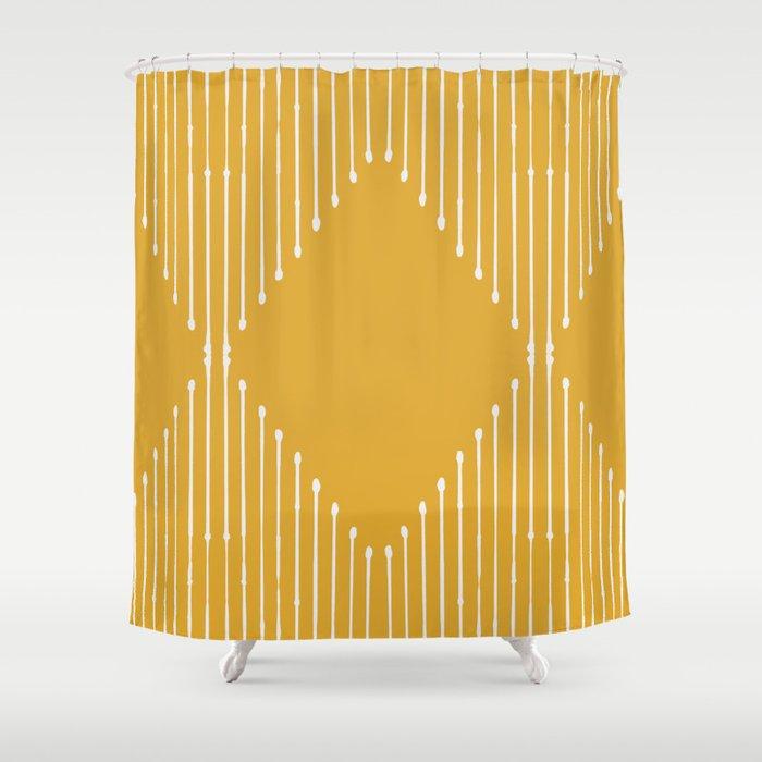 Geo / Yellow Shower Curtain