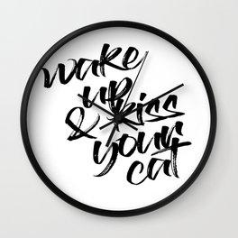 Kiss your Cat Wall Clock