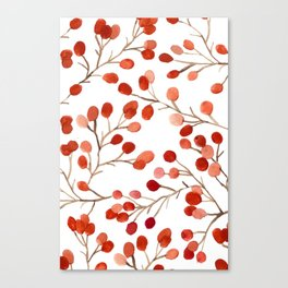 Autumn Watercolor Foliage Canvas Print