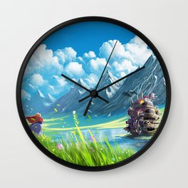 Howls Moving Castle Wall Clock