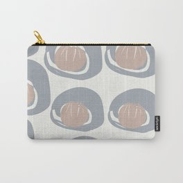 Grey Pale Rust Pattern Carry-All Pouch
