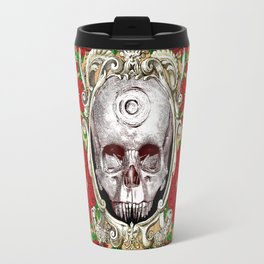 Infinitum - Macabre Gothic Skull Travel Mug