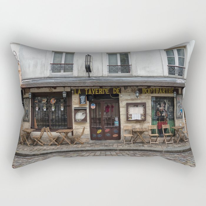 Cafe in Monmartre Paris Rectangular Pillow
