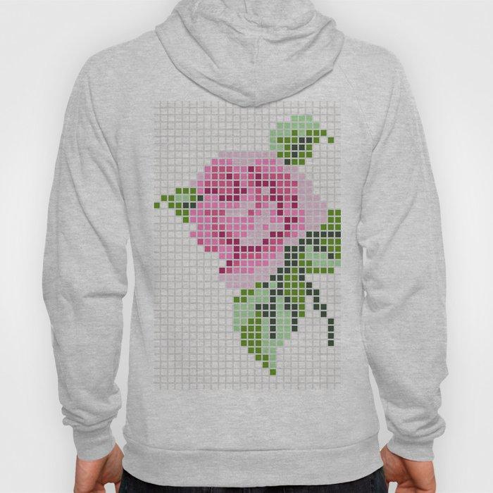 Shabby Chic Pink Rose Hoody
