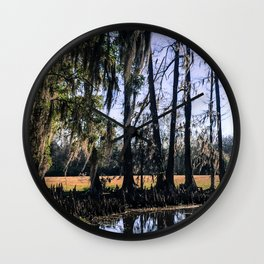 Louisiana Swamp Wall Clock