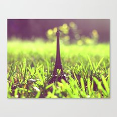 The Eiffel Tower in my backyard Canvas Print