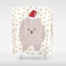 Happy Holidays Fluffy Shower Curtain