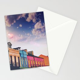 Sunny Blue Skies and New Orleans French Quarter Architecture Cityscape Stationery Cards