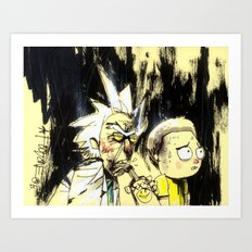 Rick & Morty Art Print