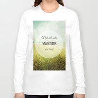 wander Long Sleeve T-shirts featuring Wander by Olivia Joy StClaire