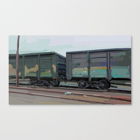 on rails Canvas Print