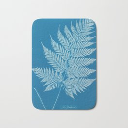 Fern Cyanotype, 1800s Bath Mat